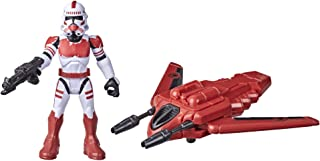 Star Wars Mission Fleet Gear Class Shock Trooper Secure the City 2.5-Inch-Scale Figure and Vehicle, Toys for Kids Ages 4 a...