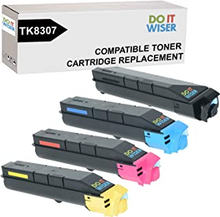 Do it Wiser Compatible Toner Cartridge Replacement for Kyocera TK-8307 / TK 8307 for Kyocera 3050ci 3550ci 3051ci 3551ci Printers - 1T02LK0US0, 1T02LKCUS0, 1T02LKBUS0, 1T02LKAUS0 (4-Pack)
