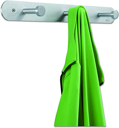 Safco Products 4201 Nail Head Coat Hook,  3 Hook,  Silver