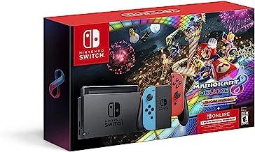 Nintendo Switch w/ Neon Blue & Neon Red Joy-Con + Mario Kart 8 Deluxe (Full Game Download) + 3 Month Nintendo Switch Onlin...