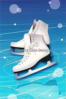 1/4 Sheet ~ Ice Skates ~ Edible Cake/Cupcake Topper!!!