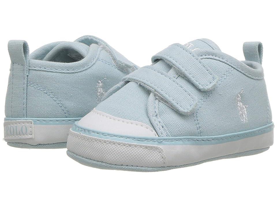 Polo Ralph Lauren Kids Camden II EZ (Infant/Toddler) (Light Blue Canvas/White PP) Boy