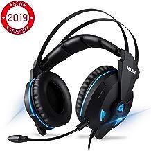 KLIM™ Impact V2 – Cascos Gaming USB - Sonido Envolvente 7.1 + Aislante de Ruidos - Audio de Alta Definición + Potentes Bajos – Auriculares de Diadema con Micrófono para Videojuegos PC PS4 - Versión 2