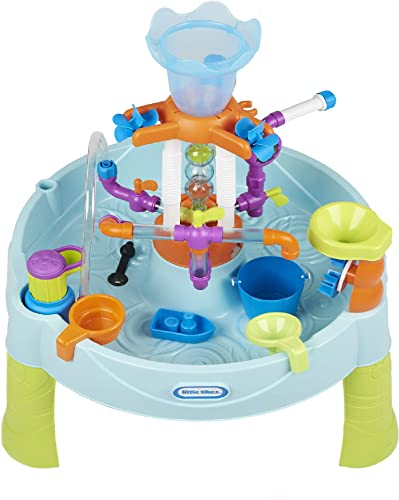 2021 Little online Tikes Flowin' Fun Water Table high quality with 13 Interchangeable Pipes online