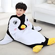 SINOGEM Penguin Blanket for Kids Summer Sleeping Blanket Soft All Seasons Sleeping Bag Blanket Premium Quality by Features 3D Hands Feet and Nose 39.4 Inch by 26.4 Inch