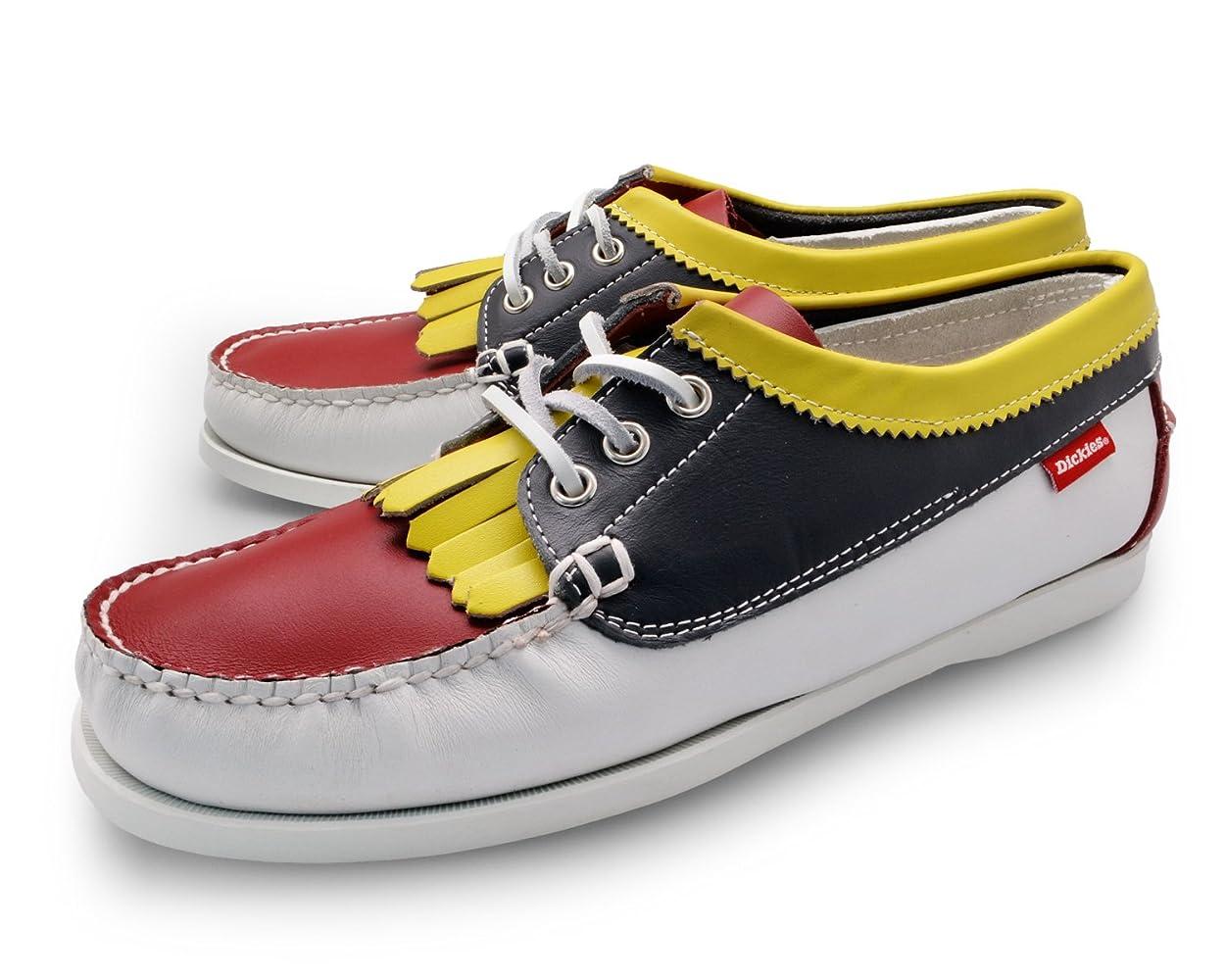 親指嫌がるそうでなければ[ ディッキーズ ] Dickies [ デッキシューズ ] Deck Shoes [ クロスビー レザー 本革 ] crosby leather [ モカシン シューズ ] Moccasin Shoes [ 白 マルチ 紺 マルチ 明茶 マルチ ]