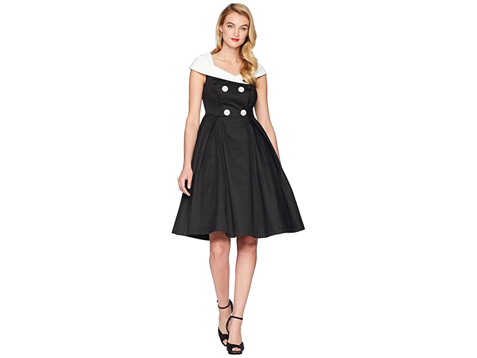 Unique Vintage Barbie x UV After Five Swing Dress (Black/White) Women