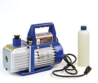 XtremepowerUS 1/4 HP Single Stage Rotary Vane Vacuum Pump 3 CFM Air Conditioner Refrigeration HVAC Air AC A/C R410a R134 (...
