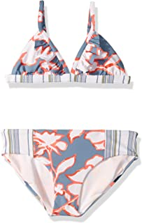 Maaji Girls' Fixed Triangle with Flutter Ruffle Bikini Swimsuit Set
