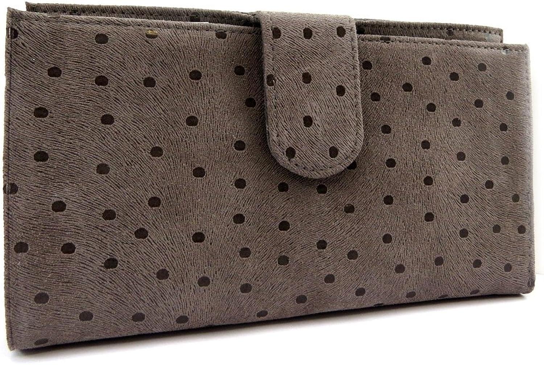 Wallet + checkbook holder leather 'Frandi' taupe (peas).