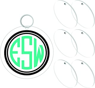 !RAKRISA 25 Pcs 1.5 Inch Diameter Round Acrylic Clear Keychain Blanks   1/8 Inch Thick (3mm) Durable, Water Resistant and Smooth Edges   Perfect for DIY Projects and Crafts (25, 1.5 Inch)