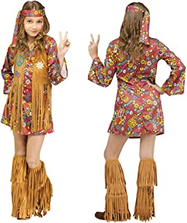 Fun World Peace & Love Hippie Costume, Large 12 - 14, Multicolor