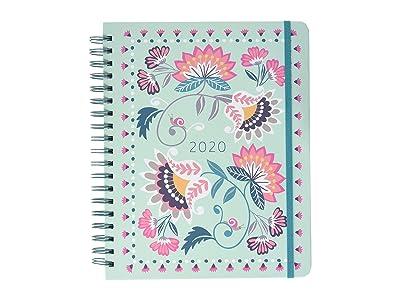 Vera Bradley Jumbo 17 Month Planner (Mint Flowers) Wallet