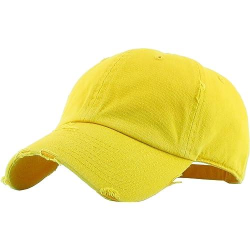KBETHOS Vintage Washed Distressed Cotton Dad Hat Baseball Cap Adjustable  Polo Trucker Unisex Style Headwear 30b1e96f744