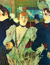 JH Lacrocon Henri de Toulouse-Lautrec - La Goulue Arriving at The Moulin Rouge with Two Women Canvas Wall Art 80X100 cm(ca. 32X40 inch) - Nightlife Paintings Reproduction Vintage Print Rolled