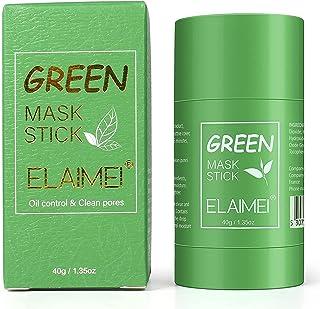 Green Mask Stick, potente mascarilla de arcilla purificadora de té verde, limpieza profunda, control de aceite, eliminació...