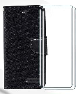 HYMY Bookstyle Flip Phone fodral Shell för Alcatel 1C 2019 + 2Pcs skärmskydd Screen Protector Protection Film - TPU Siliko...