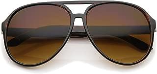 Retro Large Blue Blocking Lens Aviator Sunglasses 60mm