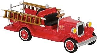 Department 56 Jack Daniel's Old #7 Fire Brigade Truck Figurine Village Accessory, Multicolor