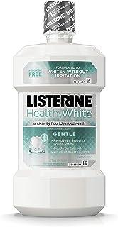 Listerine 健康的な白ジェントル虫歯予防マウスウォッシュ、クリーンミント、16液量オンス