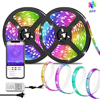 Dream Color LED Strip Lights, Starlotus Waterproof 32.8ft/10M LED Chasing Light with APP, Smart Phone Controlled Led Light Strip SMD5050 300Leds Rainbow Color Changing Rope Lights for Home,Party