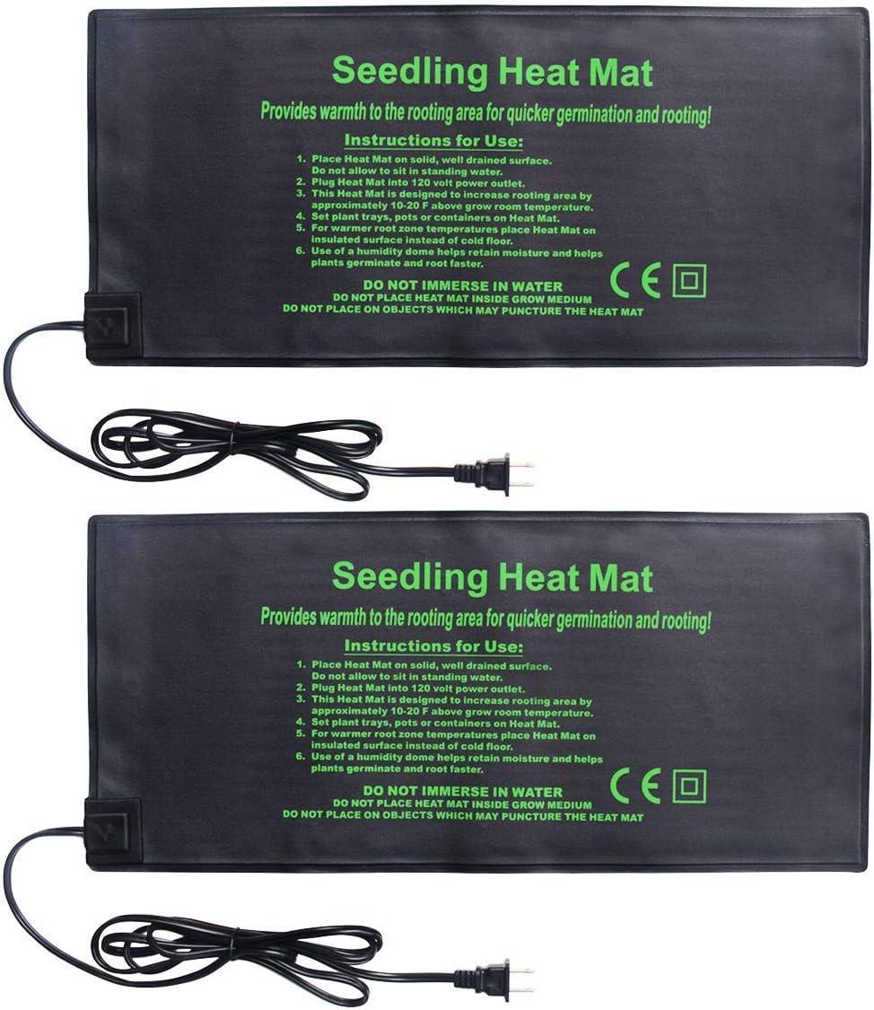 Ranking TOP6 HYDGOOHO Seedling Heat Mat 55% OFF Hydroponic Heating 2-Pack