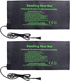 HYDGOOHO Seedling Heat Mat 2-Pack Heating Mat Hydroponic Heating Pad Waterproof for Seed Germination Cloning and Plant Propagation (S)