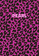 Pearl: Personalized Pink Leopard Print Notebook (Animal Skin Pattern). College Ruled (Lined) Journal for Notes, Diary, Journaling. Wild Cat Theme Design with Cheetah Fur Graphic