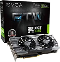 EVGA GeForce GTX 1080 FTW DT GAMING ACX 3.0, 8GB GDDR5X, RGB LED, 10CM FAN, 10 Power Phases, Double BIOS, DX12 OSD Support (PXOC) Graphics Card 08G-P4-6284-KR (Renewed)