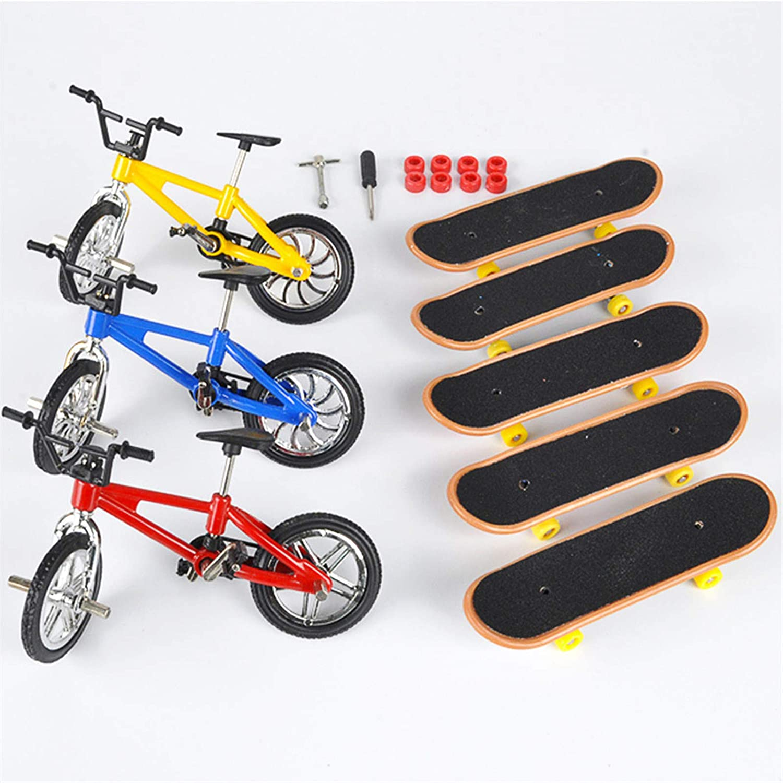 FunurHoome Finger Skateboard Bicycle Toy Mini Classic Sports Set Ultra-Cheap Deals