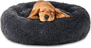 SOOTHING BED - The Original Calming Donut Cat and Dog Bed - Multiple Sizes and Colors - Shag Fur Anti-Anxiety Cuddler for ...
