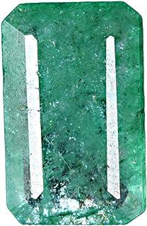 GEMHUB Esmeralda verde natural de 5,50 quilates, corte brillante, certificado facetado, piedra preciosa suelta para hacer ...