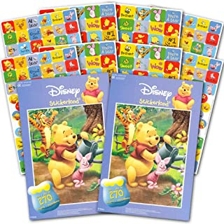 Winnie the Pooh Stickers ~ Over 500 Winnie the Pooh Reward Stickers, 8 Sticker Sheets (Winnie the Pooh Party Pack)