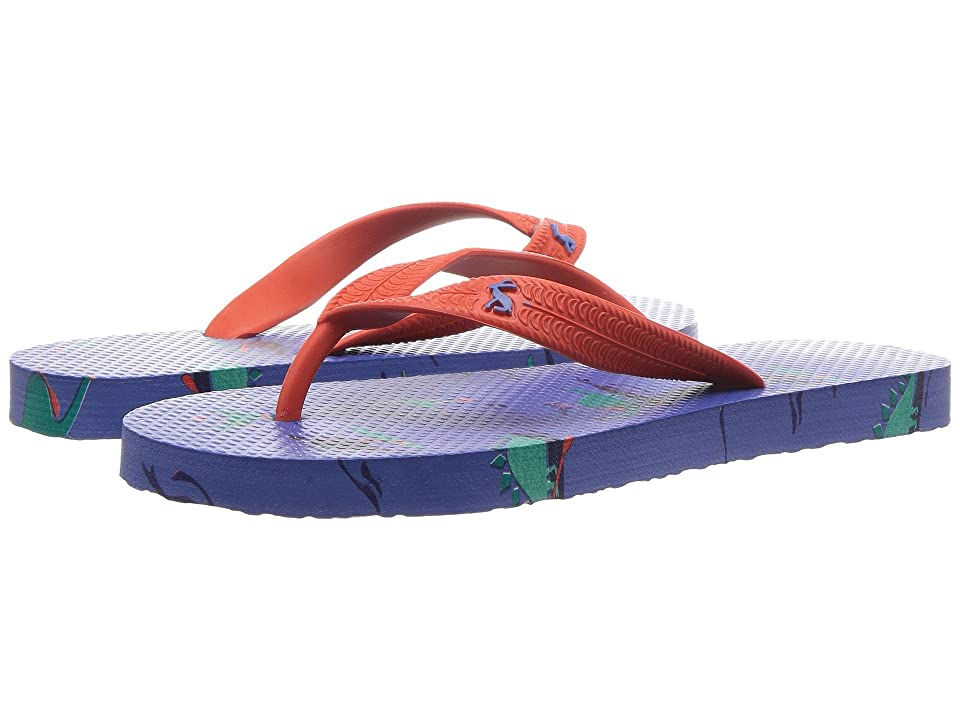Joules Kids Printed Flip-Flop (Toddler/Little Kid/Big Kid) (Blue Dino Paddle) Boys Shoes