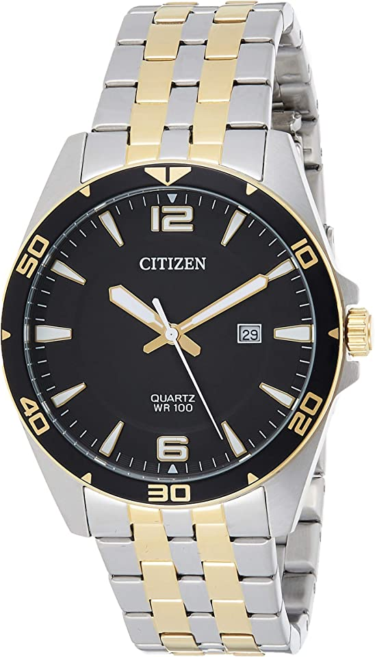 Citizen Quartz Black Dial Two-Tone Men's Watch BI5059-50E