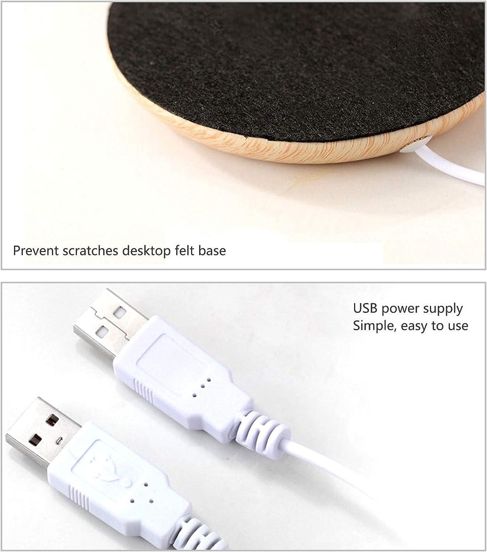 mantiene la temperatura del agua a 55 /° oficina o uso dom/éstico leche panthem Calentador de tazas de caf/é USB para t/é