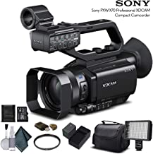 Sony PXW-X70 Professional XDCAM Compact Camcorder (PXW-X70) with 16GB Memory Card, Extra Battery and Charger, UV Filter, LED Light, Case and More. - Starter Bundle
