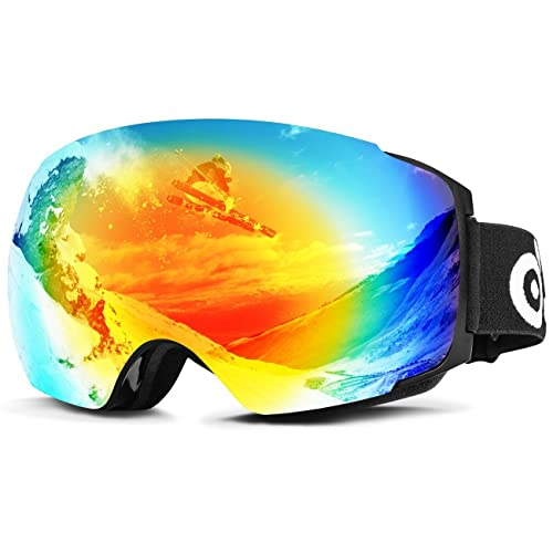 Odoland Lunettes de Ski Masque de Snowboard Hommes et Femmes-Anti-UV400,  Anti 34cb7d92f935