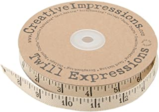 Creative Impressions Printed Twill Antique Ruler, 25-Yard