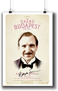 Pentagonwork The Grand Budapest Hotel (2014) Movie Photo Poster Prints 803-005 M.Gustave Ralph Fiennes Reprint Signed Casts,Wall Art Decor Gift (A4 8x12inch 21x29cm)