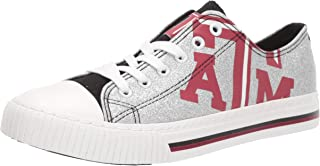 FOCO NCAA Texas A&M Aggies Womens Glitter Low Top Canvas ShoesGlitter Low Top Canvas Shoes, Team Color