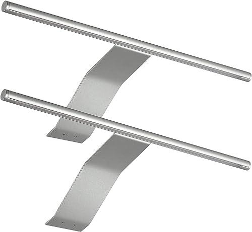 SEBSON® LED Lampe sous meuble lot de 2, Lampes Armoires avec interrupteur et fiche, blanc chaud 3000K, 2x 3,5W, 2x 23...