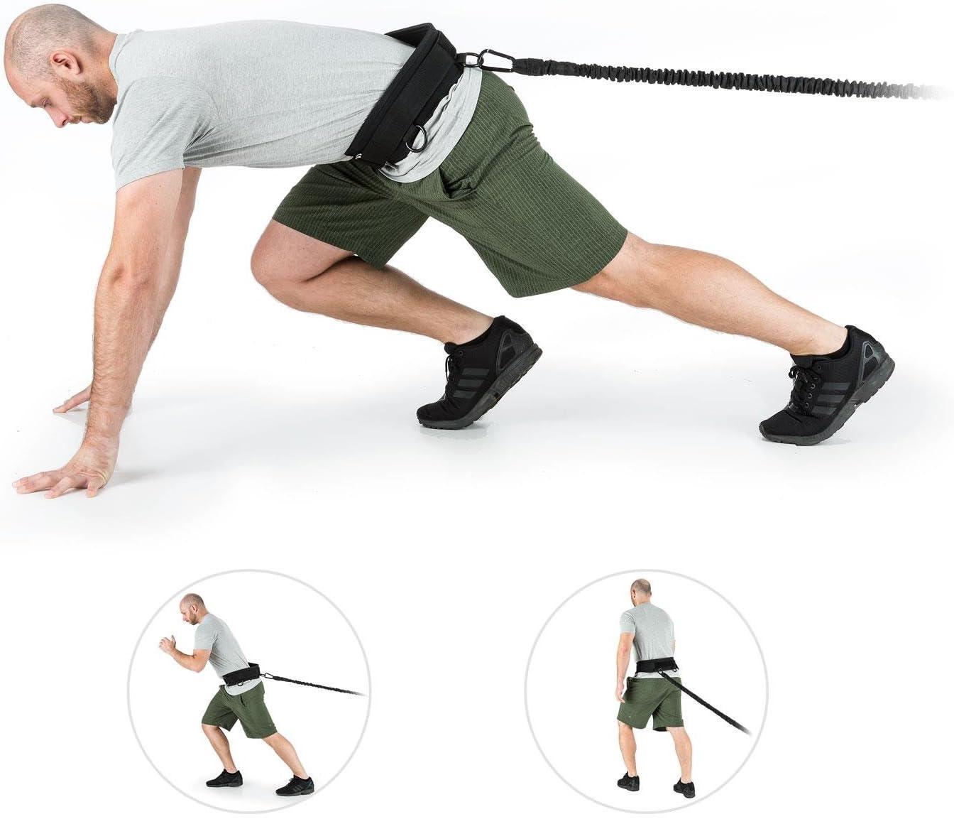 Capital Sports Prohip - Set de entrenamiento de bandas de resistencia con 2 cinturones de entrenamiento para entrenamiento de musculación ...