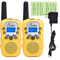 2 Pack Swiftion Rechargeable 2 Way Radio with Charger and Rechargeable Batteries (Yellow)