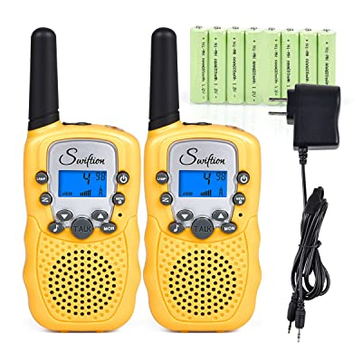 Swiftion Rechargeable Kids Walkie Talkies 22 Ch...