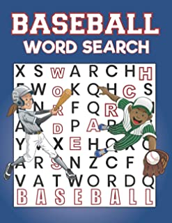 Baseball Word Search: Baseball Large Print Word Search Books | Brain Games Themed Baseball | Activity And Puzzles Book For...