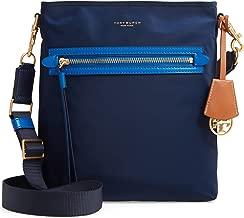 Tory Burch Women's Perry Navy Blue Nylon Swingpack Messenger Bag