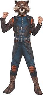 Rubie's Official Marvel Avengers Endgame Rocket Raccoon Classic Childs Costume, Kids Superhero Fancy Dress