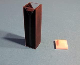 Standard Uv Quartz Spectrometer Cuvette Cell, Dark Wall, Path Length 1cm (10mm), Volume 0.7ml, Pack of 2