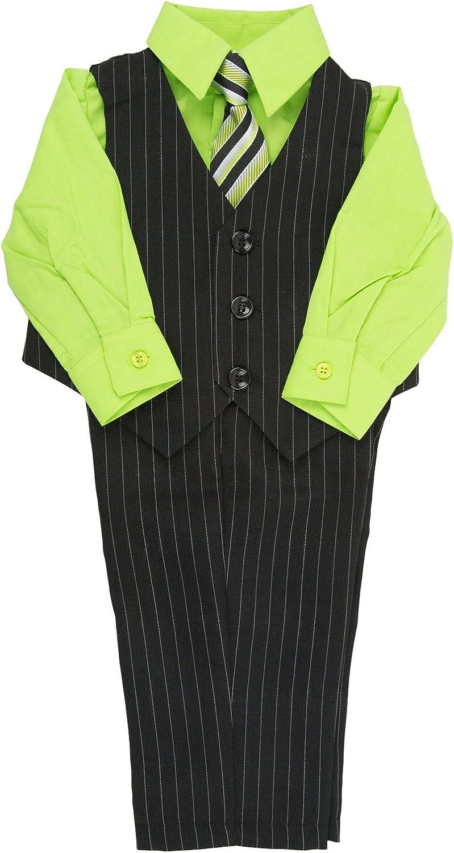 Platinum Baby Boys 4 Piece Pinstripe Vest Set with Tie